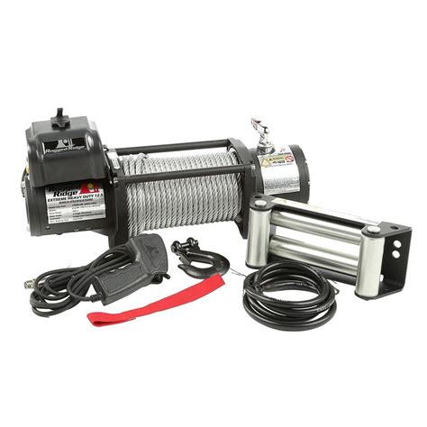 rugged ridge winches rugged ridge 12 500 lb spartacus heavy duty winch with steel cable 15100 20 the home depot