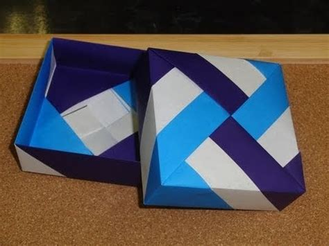 Origami Square Box With Lid - 7 best images about origami step by step on