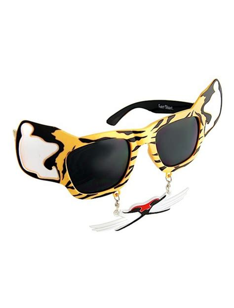 Sunglasses Heloween tiger stache sunglasses costumes