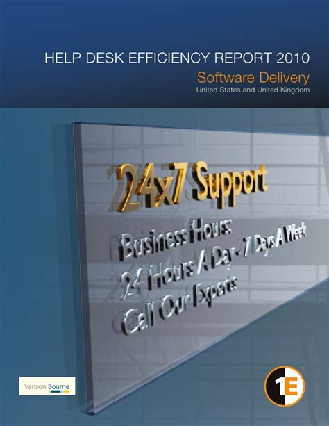 help desk efficiency report 2010 software delivery united