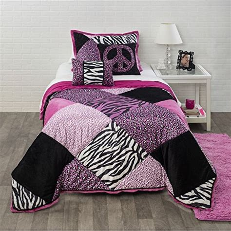 purple pattern comforter animal print bedding for kids ease bedding with style
