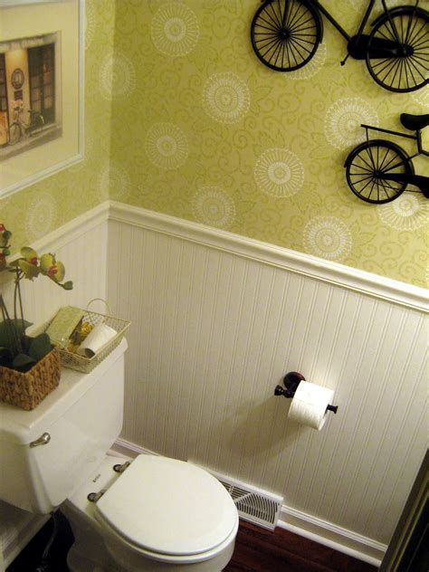 beadboard wallpaper bathroom home made modern in with wallpaper