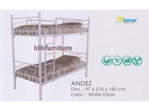 Ranjang Besi Orbitrend Square 90x200 harga tempat tidur tingkat besi andez orbitrend diskon promo