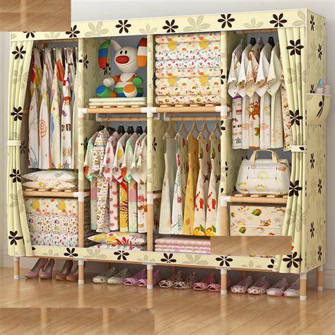 Rak Display Baju Kayu jual lemari rak baju non woven kanvas kayu storage rak