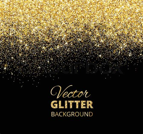 Decoration Of Birthday Party At Home by Festive Black Background With Falling Glitter Confetti