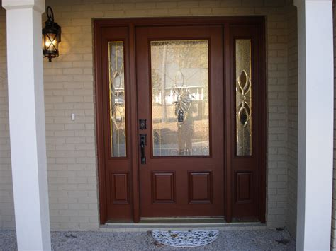 dark brown front door dark brown wooden and glass front entry design connected
