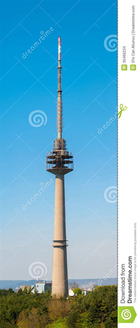 tv antenna tower stock images image 30466234