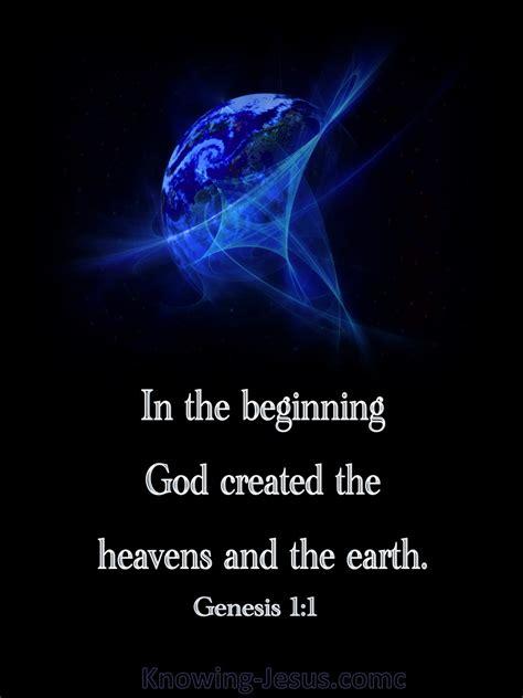 genesis 1 1 in the beginning god created blue