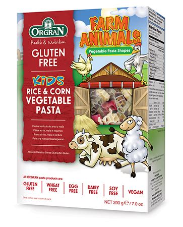 Orgran Rice And Corn Macaroni farm animals rice corn vegetable pasta orgran