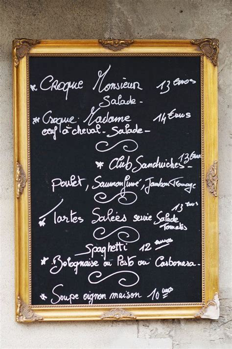 menu for large kitchen photograph chalkboard menu cafe