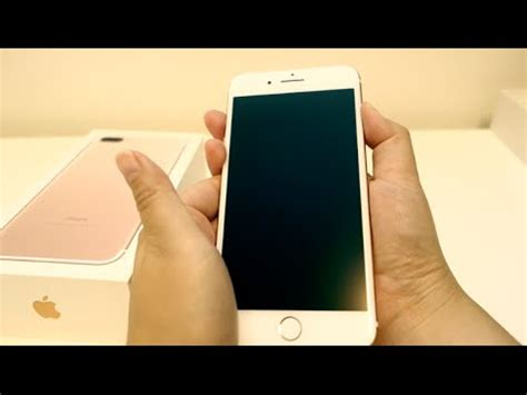 iphone   rose gold gb unboxing hands     sea blue silicone case  tech