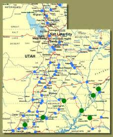 Utah Map With Cities by Show Me Utah Towns