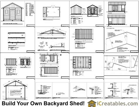 Free Shed Blueprints 12x20 by 12x20 Shed With Porch Icreatables