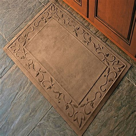 low profile rugs entryway microfibre 174 low profile vine 2 foot x 3 foot door mats bed bath beyond