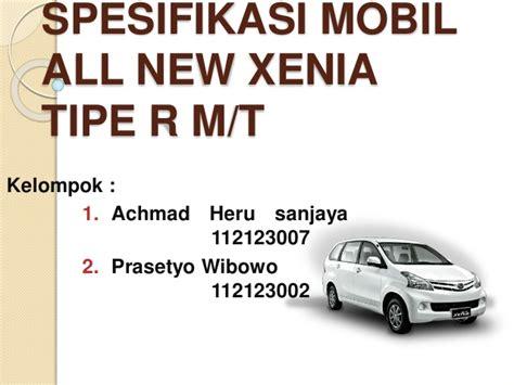 Mobile All Tipe spesifikasi mobil all new xenia tipe r m 1