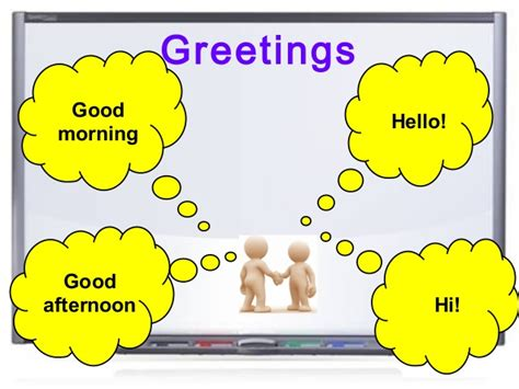 greetings for greetings farewells and introducing