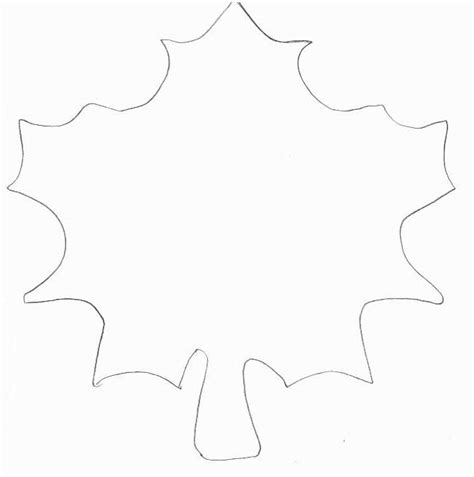 leaf pattern template