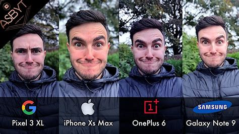 pixel  xl  iphone xs max  oneplus   samsung galaxy note  camera comparison test
