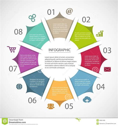 Circle Infographic Template Royalty Free Stock Photos Image 36851908 Circle Infographic Template