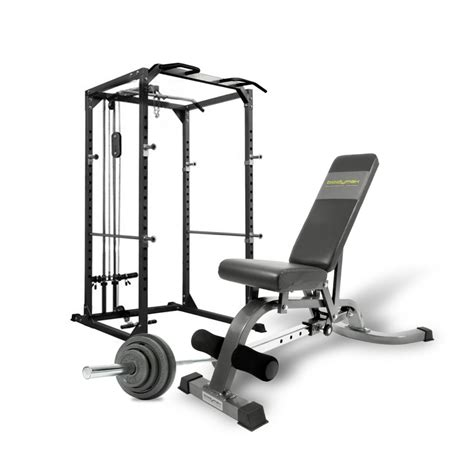 Squat Rack Package by Bodymax Cf375 Deluxe Strength Package Squat Rack Barbell