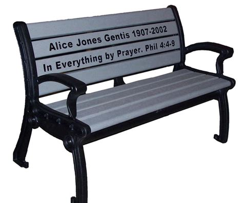 recycled plastic memorial benches emerald park memorial bench occ outdoors