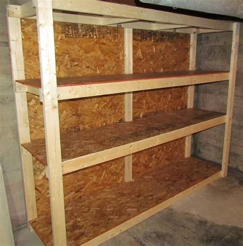basement storage shelves plans  woodworking