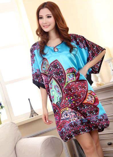 Flowery Sleepwear appealing flowery design sleeves dress pyjamas