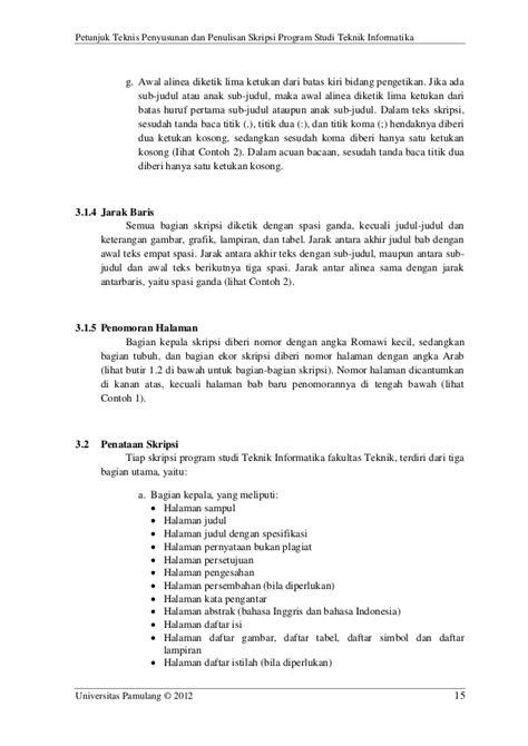 format penulisan skripsi teknik informatika pedoman petunjuk teknis skripsi teknik informatika