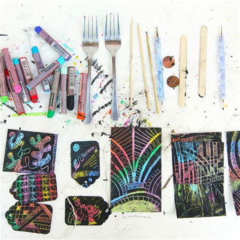 How To Make Scratch Paper - instant scratch babble dabble do