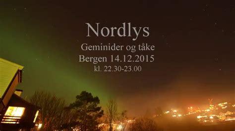 northern lights bergen 2015 12 youtube