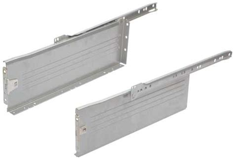 metal drawer sides 150 mm high white ral 9010 finish