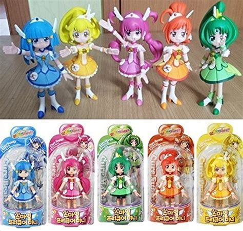 Pretty Cure Figure Set 3 glitter smile precure 5 figure doll set cure happy