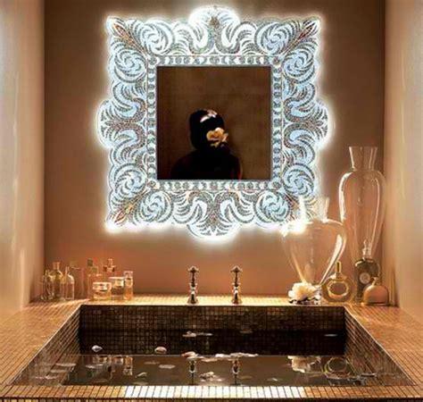 Artistic Bathroom Wall Mirrors Light Glass Mosaic Wall Mirror Ayanahouse