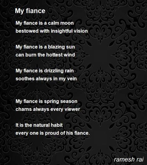 poems for my my fiance poem by ramesh poem