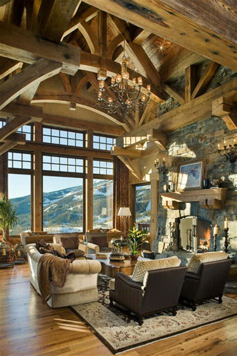 Mountain Home Interiors by 40 Awesome Rustic Living Room Decorating Ideas Decoholic