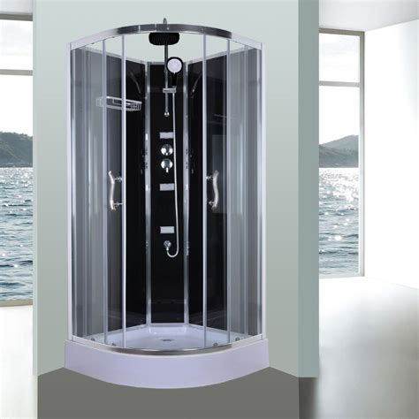Bathroom Shower Cubicle Aeros 11000 Corner Luxury Shower Enclosure In Black Buy Shower Cubicles