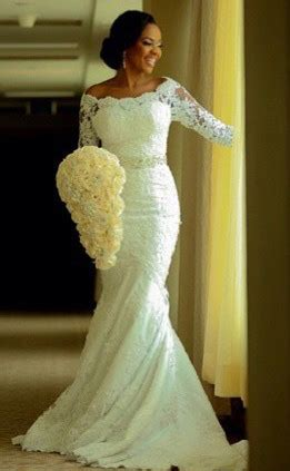 Vintage Long Sleeve Mermaid Lace Wedding Dress Crystal