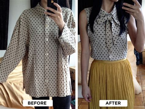8 Tips For Caring After Vintage Garments by Turn An Shirt Into A Chic Blouse Diy Alldaychic