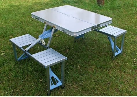 Portable Meeting Table Portable Aluminum Alloy Conference Tables Outdoor Folding Tables And Chairs For Cing