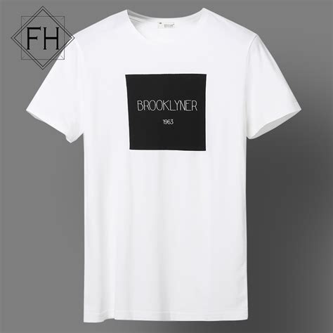 Simple Tees fuhao white top tees s clothing fashion cotton casual