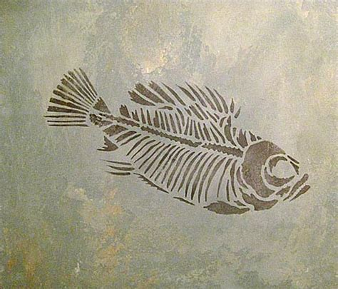 Christmas Murals For Walls prehistoric fish fossil stencil awesome fossil stencils