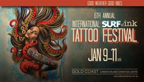 tattoo convention queensland 6th international surf n ink tattoo festival gold