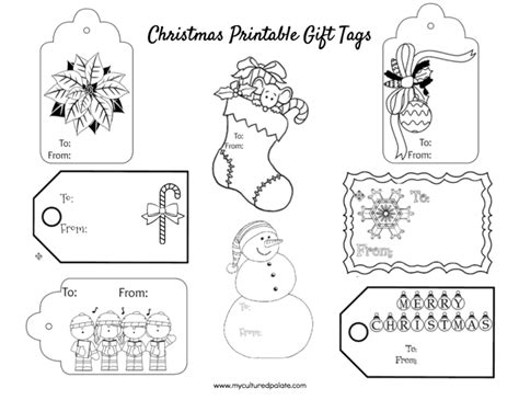 printable holiday gift tags to color free christmas gift tags to color cultured palate