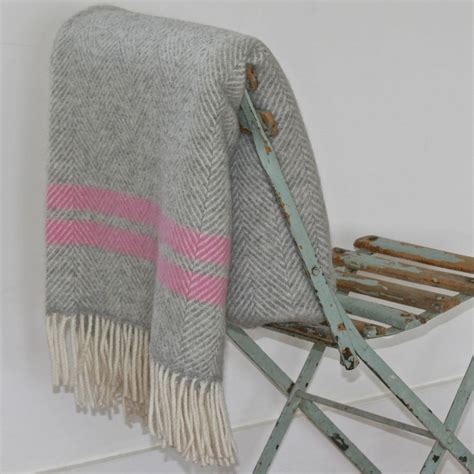 wool coverlet pure new wool stripe throw by hedgebetty