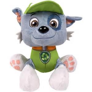 nickelodeon paw patrol plush pup pals rocky preschool toys walmart