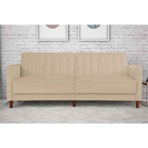 futon velvet dhp pin tufted transitional velvet and