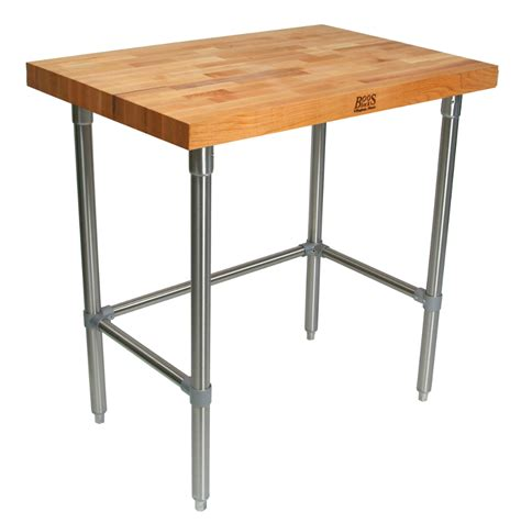 stainless steel butcher block table boos butcher block work tables