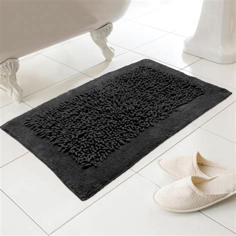 black white bathroom rugs noodles 100 cotton textured washable bath mat rug in