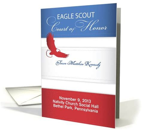 Eagle Scout Card Template by Eagle Scout Court Of Honor Program Card Eagle Scout