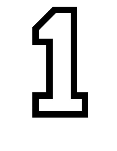 template of numbers number 1 picture for kiddo shelter